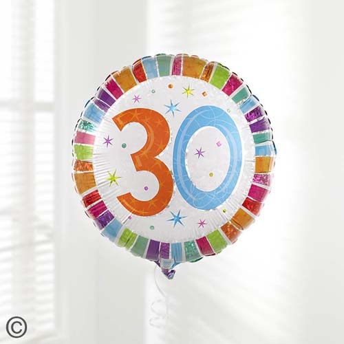 30th Birthday Balloon Product Details Delivery Information